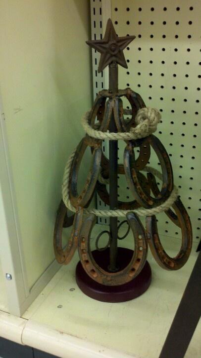 Horseshoe christmas tree horse shoes pinterest for Christmas tree made out of horseshoes