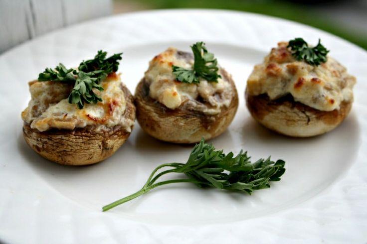 Feta Stuffed Mushrooms Recipe | FOOD! FOOD! FOOD! | Pinterest
