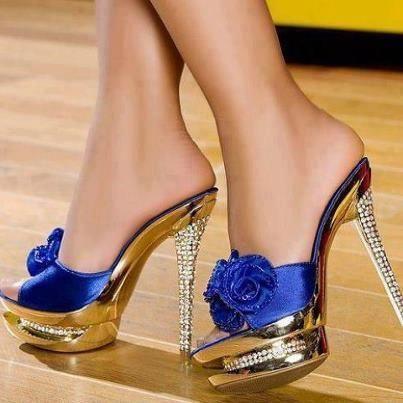 ブルーローズの靴