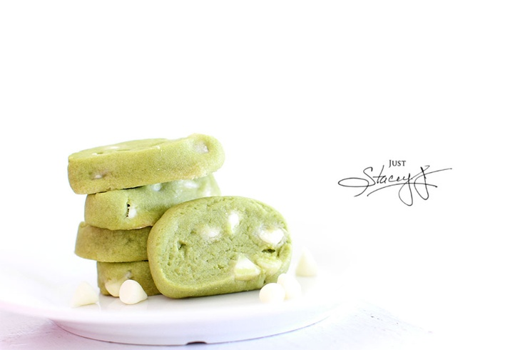 Green Tea Matcha Shortbread Cookies