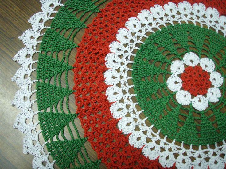 Free Crochet Pattern For Christmas Skirt : free crochet ripple christmas tree skirt pattern Car Tuning