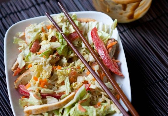 Asian Cabbage Salad with tofu | Sassy Sandwiches, Soups, Sides & Sauc ...