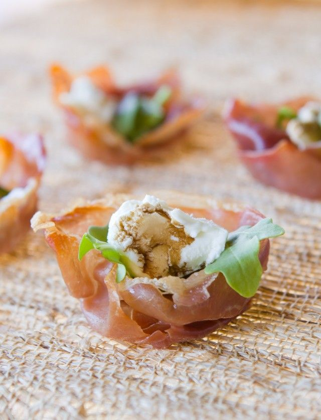 Salad Prosciutto Cups #healthy #easyrecipe #weightwatcherrecipe