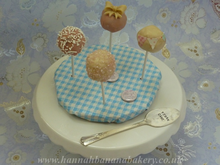 vegan and gluten free cake pops | Hannahbananabakery.co.uk | Pinterest