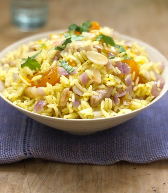Chicken, Apricot, and Almond Rice - these flavors are a fresh, unique ...