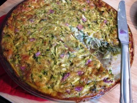 zucchini pie - making this for lunch with dill and feta instead of ...