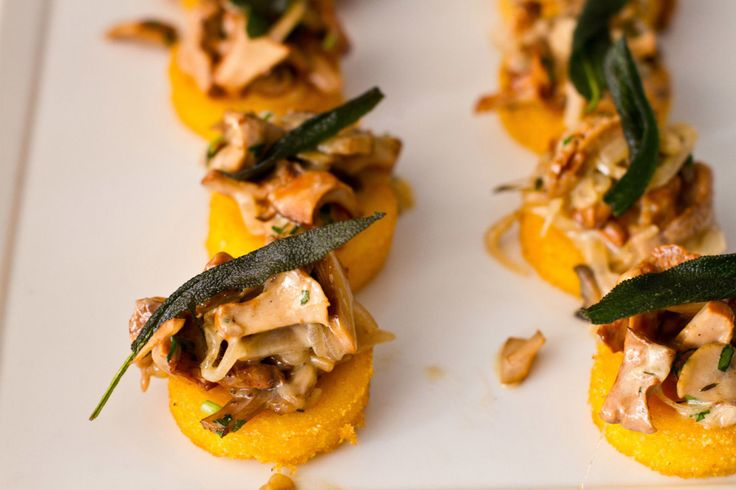 Polenta Mini Pizzas With Mushrooms & Olives Recipes — Dishmaps