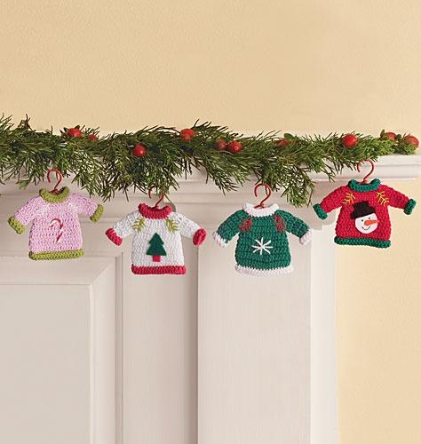 Knit Sweater Ornaments Christmas Pinterest