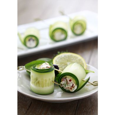 Cucumber Feta Rolls | Snacks- Vegetarian/Vegan | Pinterest