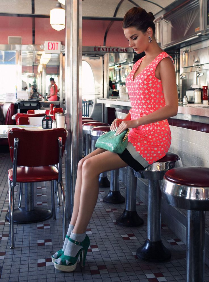 Zoltan Tombor Captures Karina in Miami Retro Style for Marie Claire Hungary June 2012
