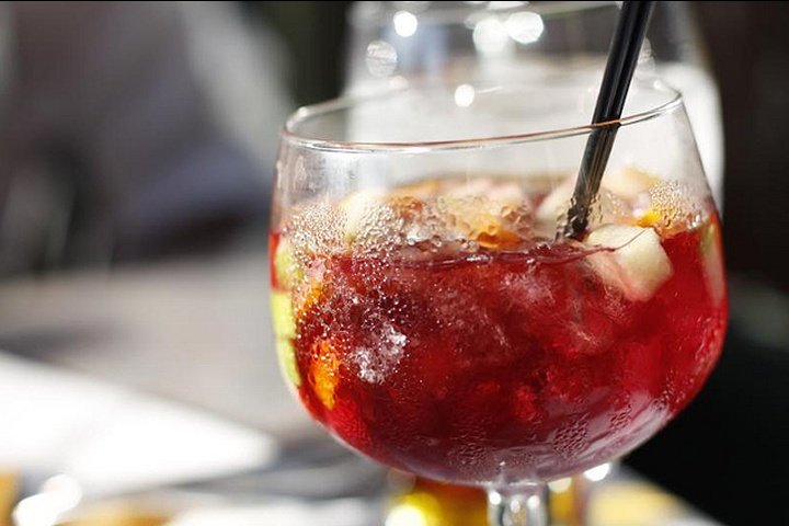 Summer Spanish Sangria - Can you tell we are grilling out tonight~