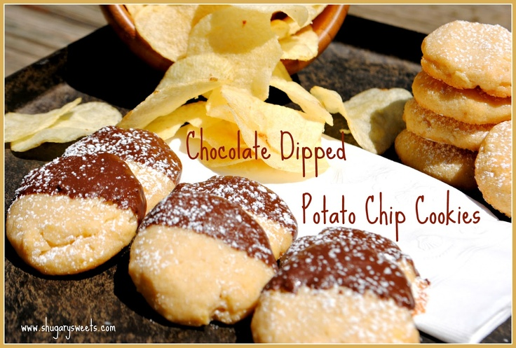 Chocolate Dipped Potato Chip Cookies | Is there Sugar in Syrup? Then ...