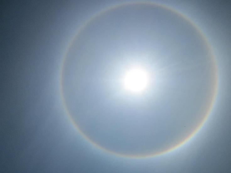 Foto de fenomeno solar el 18 de mayo de 2012 11:10 a.m.