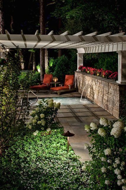 Backyard Ideas With Hot Tub : Hot tub  Patio Ideas  Outdoor Living  Pinterest