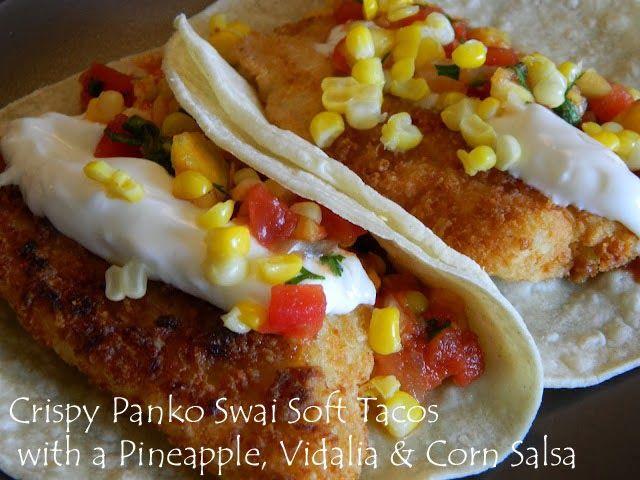 Fiery Fish Tacos With Crunchy Corn Salsa Recipes — Dishmaps