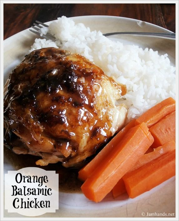 orange balsamic chicken | Recipes to Try | Pinterest