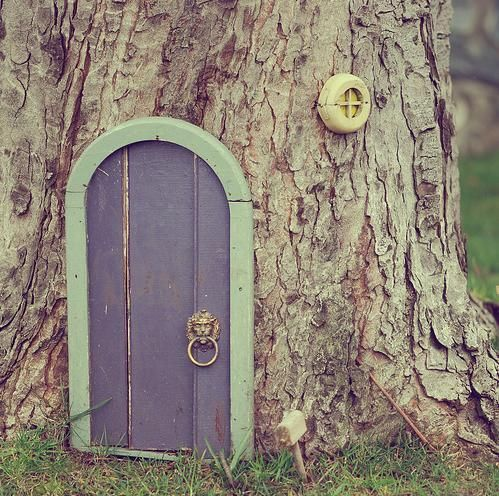 Fairy gnome door in the garden outdoors pinterest for Gnome doors for trees