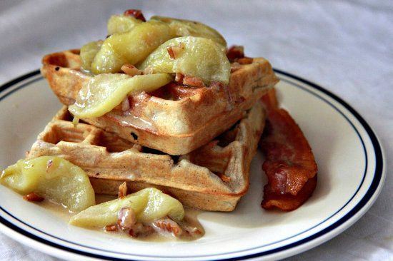 Spiced waffles with caramelized waffles. These waffles are great on ...