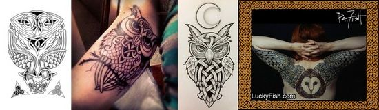 celtic owl tattoos ideas tattoos designs ideas pinterest. Black Bedroom Furniture Sets. Home Design Ideas