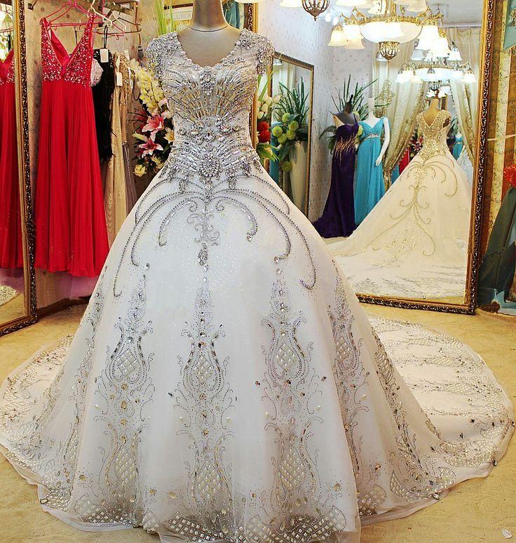 Crystal Hand Sewn Wedding Dresses 19