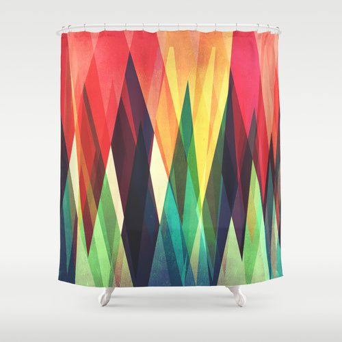 Mountain Sunset Shower Curtain by VessDSign | Society6