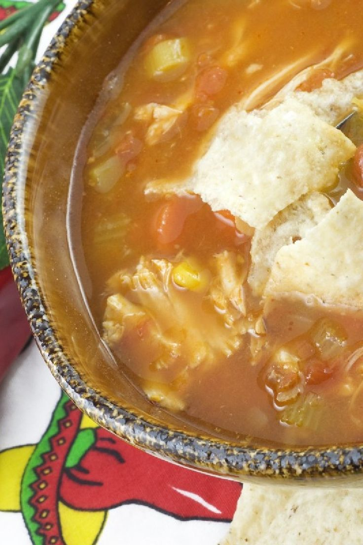 Six Can Chicken Tortilla Soup----- 15 oz can drained whole kernel ...