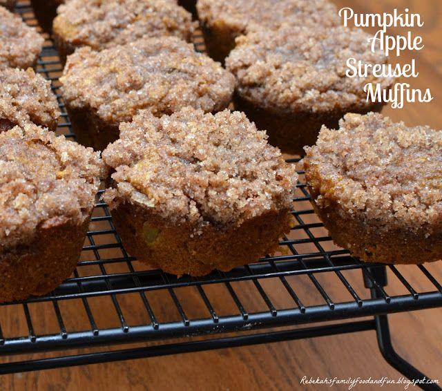 Pumpkin Apple Streusel Muffins | Breads and Baked Goods | Pinterest
