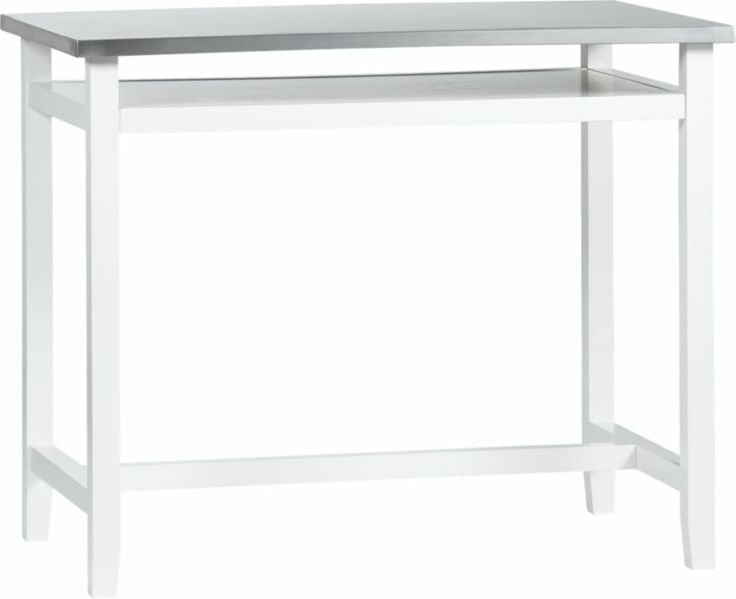 Belmont White Work Table with Stainless Steel  | ~kitchen island &…