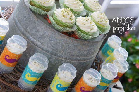 key lime cupcakes & #push-up pops | Cinco De Mayo Party | Pinterest