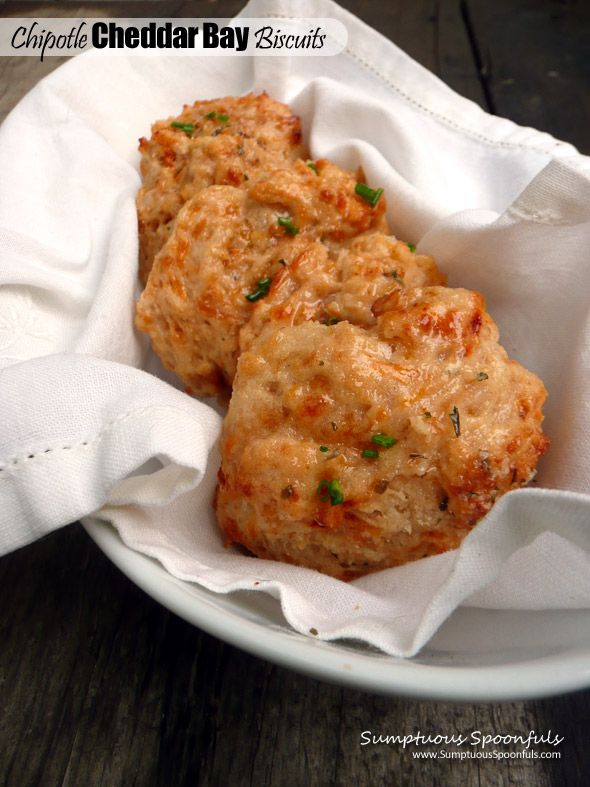 Chipotle Cheddar Bay Biscuits ~ Sumptuous Spoonfuls #chipotle #cheddar ...