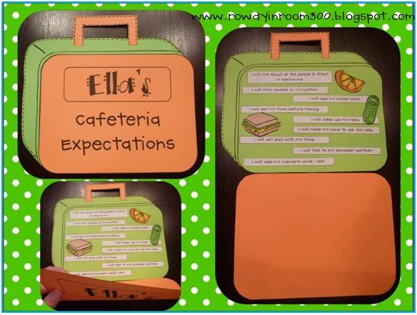 Lunchbox craftivity - teach cafeteria expectations! FREEBIE!