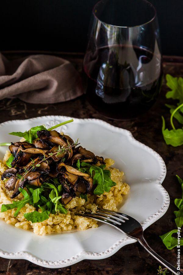 Thyme and Mushroom Quinoa Risotto Recipe - vegan   DeliciousEveryday ...