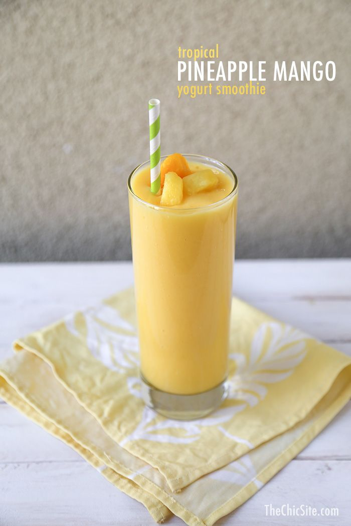 ... fat yogurt 3/4 cup frozen mango chunks 1/2 cup frozen pineapple chunks
