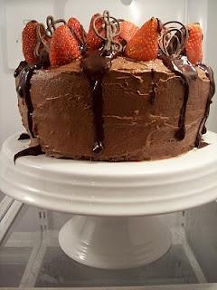 Chocolate Strawberry Celebration Cake | Cakes | Pinterest