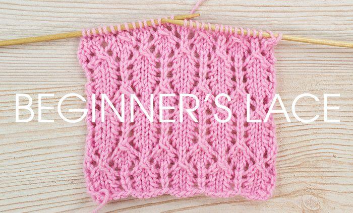 Beginner Knitting : beginners-lace-01 Knitting / Breien Pinterest