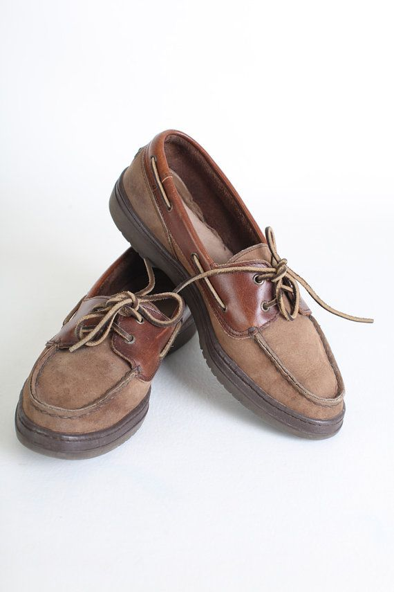 Vintage Size 7 Wide Women s Brown Leather by thisvintagething, $32.99