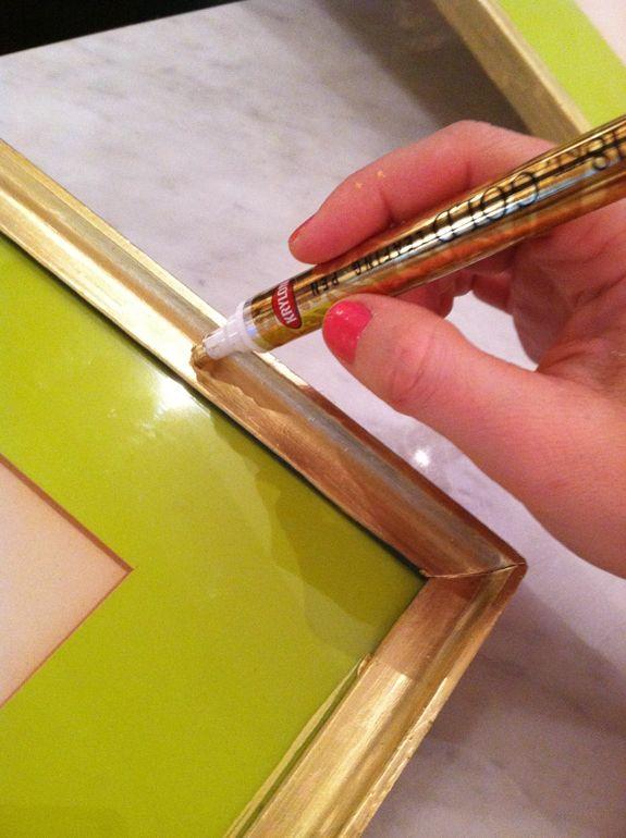 Gold leaf pen —genius!