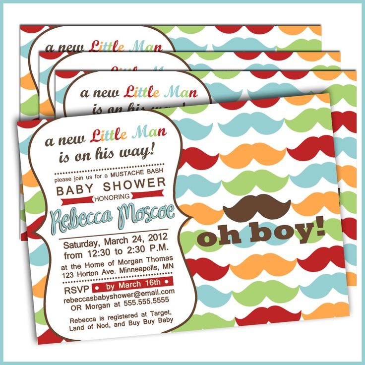 mustache baby shower invitations 234 little man baby shower set of