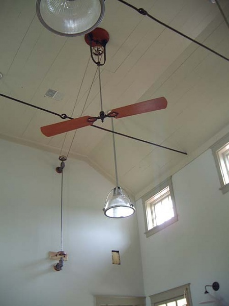 Pulley system ceiling fan house crazy industrial dream loft pin - Ceiling fan pulley system ...