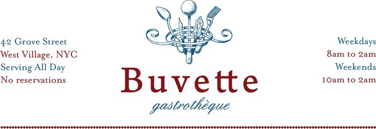 Buvette in West Village- must try chocolate mousse