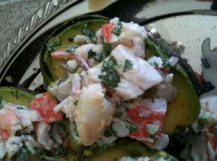 Cilantro Lime Seafood Salad (in an avocado boat) or what I call ...