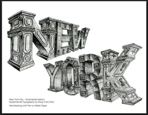New York letters | Art & Design | Pinterest Courtney