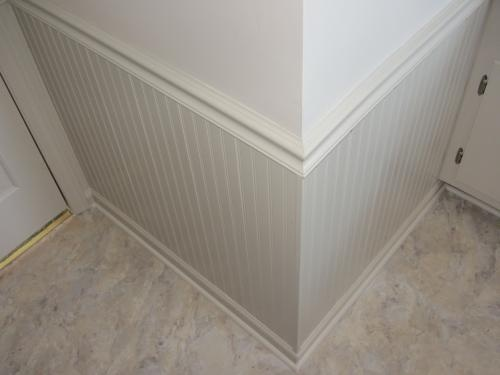wood paneling 8 linear ft mdf overlapping wainscot. Black Bedroom Furniture Sets. Home Design Ideas