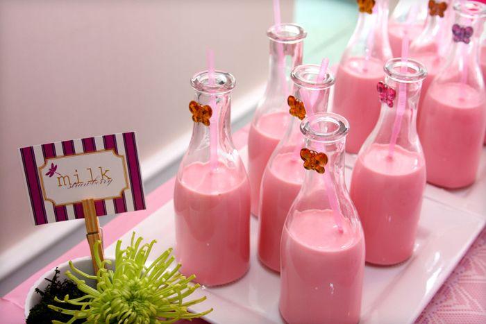 "Strawberry ""Pink"" Milk Recipe — Dishmaps"