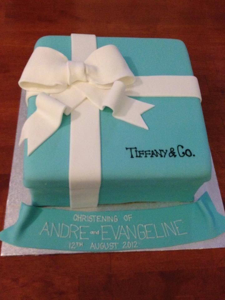 How To Make Tiffany Box Birthday Cake