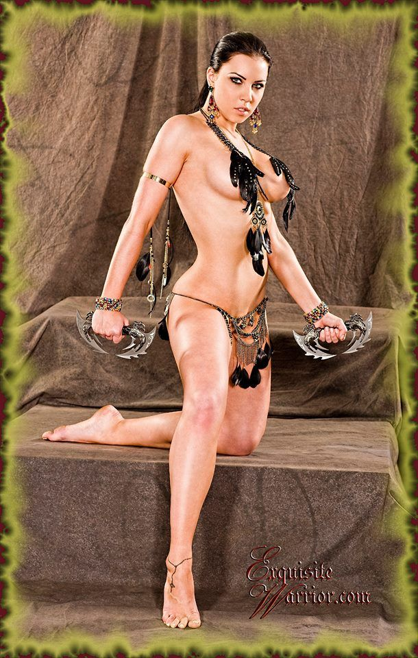 Hot sexy warrior women
