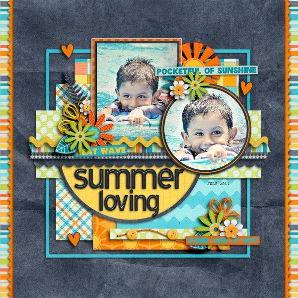 Summer Loving scrapbook layout