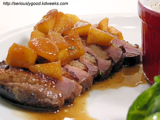 Pork Brined in Rum and Cider with Apples | Recipe