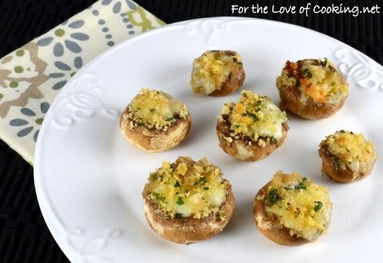 Love stuffed mushrooms...especially if it's stuffed with brie!