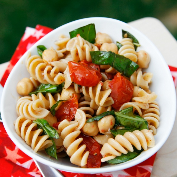 roasted tomato pasta salad grape tomatoes and basil i m in